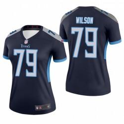 Isaiah Wilson 79 Titans du Tennessee Navy Maillot NFL Draft féminin