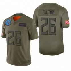 Tennessee Titans Kristian Fulton Olive 2019 Salut à Service Limited Maillot
