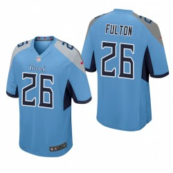 Kristian Fulton 26 Titans Light Blue Draft NFL jeu Maillot