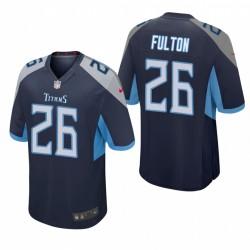 Kristian Fulton 26 Titans Navy NFL Draft jeu Maillot