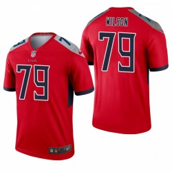 Tennessee Titans 79 Isaïe Wilson Red Inverted Légende Maillot