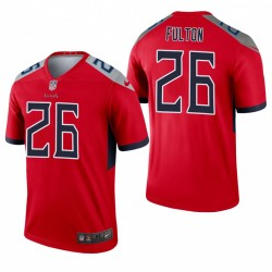 Tennessee Titans 26 Kristian Fulton Red Inverted Legend Maillot