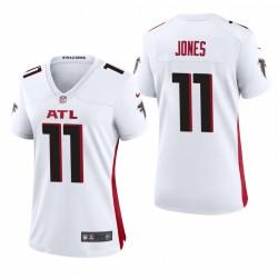 Femmes Falcons Julio Jones 11 Blanc Jeu Maillot