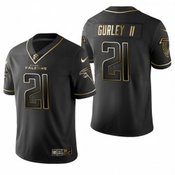 Todd Gurley 21 Atlanta Falcons Noir Golden Edition Maillot
