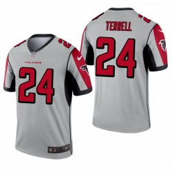 Atlanta Falcons 24 AJ Terrell Argent Inverted Legend Maillot