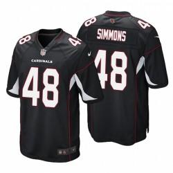 Isaiah Simmons 1 Cardinals Noir NFL Draft Autre jeu Maillot