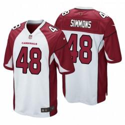 Blanc Isaiah Simmons 1 Cardinals NFL Draft Maillot jeu