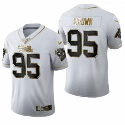 Panthères Derrick Brown blanc NFL Draft Golden Edition Maillot