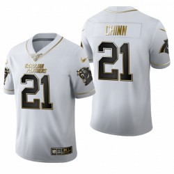 Panthers Jeremy Chinn blanc NFL Draft Golden Edition Maillot