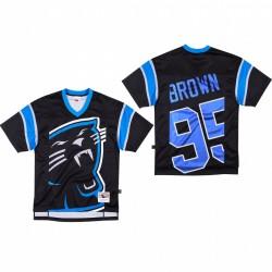 Carolina Panthers 95 Derrick Brown Big Face Maillot - Noir