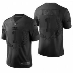 Panthers 1 Cam Newton NFL MVP Noir limitée Maillot