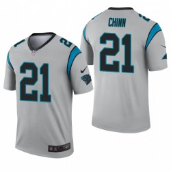 Carolina Panthers 21 Jeremy Chinn Argent Inverted Legend Maillot