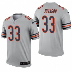 Chicago Bears 33 Jaylon Johnson Argent Inverted Legend Maillot