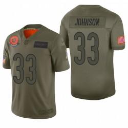 Chicago Bears Jaylon Johnson Olive 2019 Salut à Service Limited Maillot