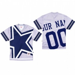 Dallas Cowboys 00 personnalisés Big Face Maillot - Gris