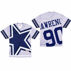 Dallas Cowboys 90 DeMarcus Lawrence Big Face Maillot - Gris