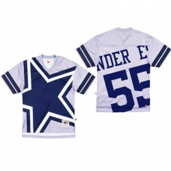 Dallas Cowboys 55 Leighton Vander Esch Big Face Maillot - Gris