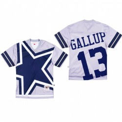 Dallas Cowboys 13 Michael Gallup Big Face Maillot - Gris
