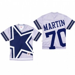 Dallas Cowboys 70 Zack Martin Big Face Maillot - Gris