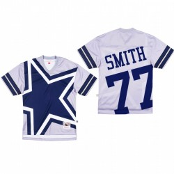 Dallas Cowboys 77 Tyron Smith Big Face Maillot - Gris